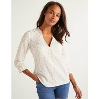Rosanna Embroidered Top Ivory Women Boden, Ivory