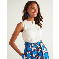 Petronella Top Ivory Women Boden, Ivory