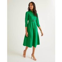 Olivia Linen Shirt Dress Green Women Boden, Green