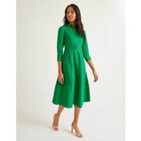Olivia Linen Shirt Dress Green Women Boden, Green