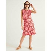Romaine Linen Dress Red Women Boden, Navy