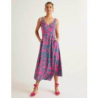 Rosaline Midi Dress Blue Women Boden, Pink
