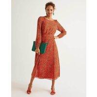 Ingrid Midi Dress Orange Women Boden, Orange