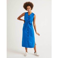 Catriona Linen Dress Blue Women Boden, Blue