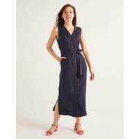 Catriona Linen Dress Navy Women Boden, Navy