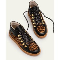 Anita Trainers Black/Tan Leopard Women Boden, Black/Tan Leopard