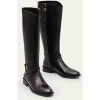 Pembroke Knee High Boots Black Women Boden, Black