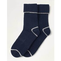 Cashmere Socks Navy Christmas Boden, Pink
