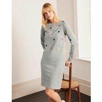 Sweatshirt Dress Grey Marl, Boucle Spot Women Boden, Grey Marl, Boucle Spot