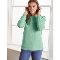 Puff Sleeve Sweatshirt Green Women Boden, Green