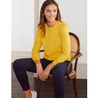 Puff Sleeve Sweatshirt Yellow Women Boden, Yellow