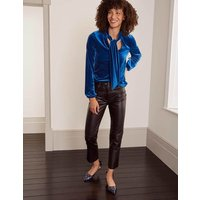 Blue Nancy Velvet Top Blue Depths Women Boden, Blue Depths