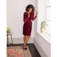 Boden Abigail Velvet Dress Purple Christmas Boden, Purple