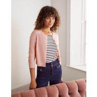 Cashmere Crop Cardigan Pink Women Boden, Pink