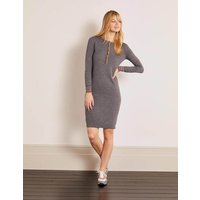 Marlborough Henley Dress Grey Women Boden, Black