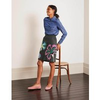 Riley Embroidered Mini Skirt Graphite Floral Embroidery Women Boden, Graphite Floral Embroidery