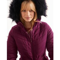 Cranbrook Puffer Jacket Purple Women Boden, Purple