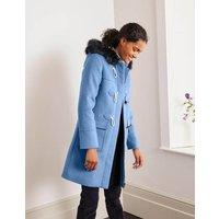 Orme Duffle Coat Blue Christmas Boden, Blue