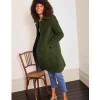 Elveden Textured Coat Forest Green Women Boden, Forest Green