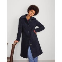 Elveden Textured Coat Navy Women Boden, Navy