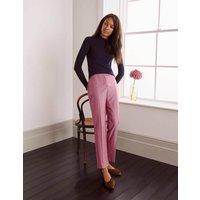 Kennford Tweed Trousers Pink Herringbone Women Boden, Pink Herringbone