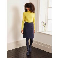 Poppy Boiled Wool Skirt Navy Women Boden, Navy