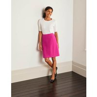 Poppy Boiled Wool Skirt Pink Women Boden, Pink