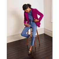 Siddal Velvet Blazer Purple Women Boden, Purple