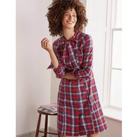 Elspeth Shirt Dress Red and Ivory Check Women Boden, Red and Ivory Check