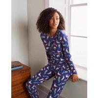 Alba Jersey Pyjama Top Starboard, Jolly Dogs Women Boden, Starboard, Jolly Dogs
