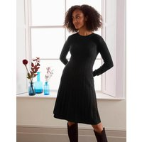 Boden Erica Cable Knitted Dress Black Christmas Boden, Black