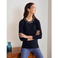 Howe Embellished Jumper Navy Women Boden, Navy