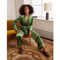 Rosebury Velvet Belted Blazer Mid Green Velvet Women Boden, Mid Green Velvet