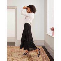 Elizabeth Wrap Skirt Black, Dalmatian Spot Women Boden, Black, Dalmatian Spot