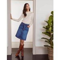Julianne Denim Skirt Mid Vintage Denim (Mid Wash) Women Boden, Mid Vintage Denim (Mid Wash)