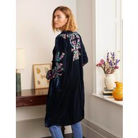 Altheda Embroidered Coat Navy Women Boden, Navy