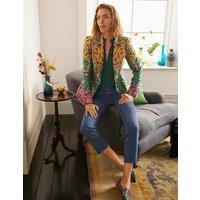 Romaine Jacquard Blazer Gold, Decadent Garden Women Boden, Gold, Decadent Garden
