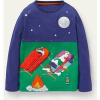 Lift-the-flap Scene T-shirt Starboard Camping Animals Boden, Starboard Camping Animals.