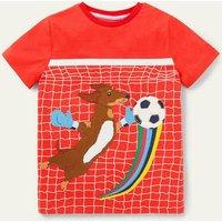 Activity Applique T-shirt Rocket Red Sausage Dog Boden, Rocket Red Sausage Dog