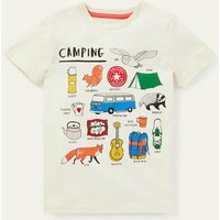 Graphic Camping T-shirt Ivory Camping Adventures Boden, Ivory Camping Adventures.