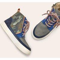 Leather Lace Up Boots Khaki Camo Boden, Khaki Camo
