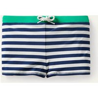 Swim Trunks Deep Sea Blue/White Boden, Deep Sea Blue/White