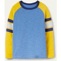 Raglan T-shirt Elizabethan Blue/Yellow Boden, Elizabethan Blue/Yellow