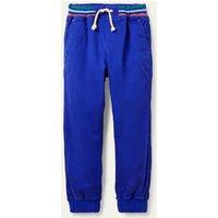 Rib Waist Pull-on Joggers Blue Boden, Blue.