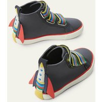 Space High Tops Dark Grey Rainbow Boden, Dark Grey Rainbow