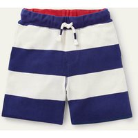 Slub Jersey Shorts College Navy/Ivory Boys Boden, College Navy/Ivory