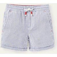 Smart Roll-up Shorts Ivory/Blue Boys Boden, Ivory/Blue