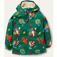 Cosy Sherpa-lined Anorak Forest Green Bonkers Conkers Boden, Forest Green Bonkers Conkers