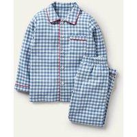 Leo Pyjamas Elizabethan Blue/Ivory Boden, Elizabethan Blue/Ivory