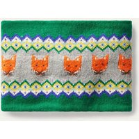 Cosy Fox Fair isle Snood Forest Green Boden, Forest Green